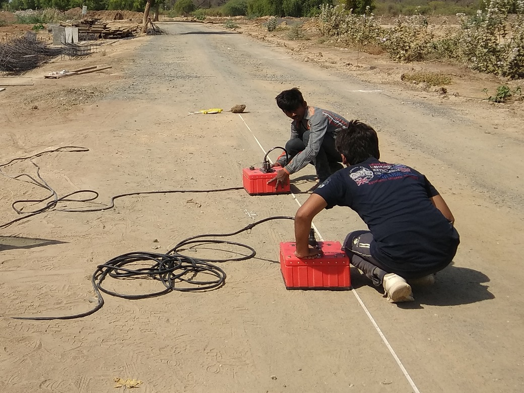 utility mapping using GPR at Barmer_Oswal Infra